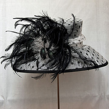 black and white spot hat   sn212