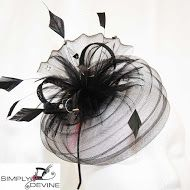 Black Raceday Fascinator SN843