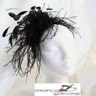 Fluffy black fascinator