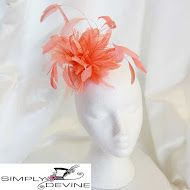 Light Orange Fascinator on a Comb W54