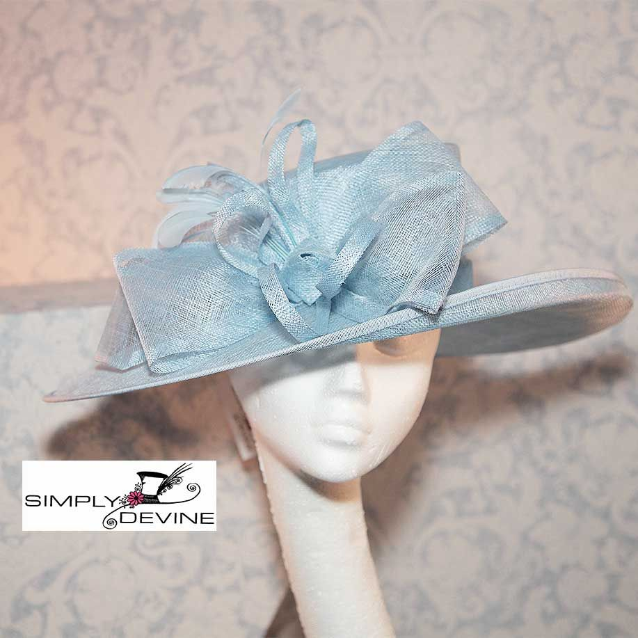 Mother Of The Bride Wedding Hat In Beautiful Bluebell NR348