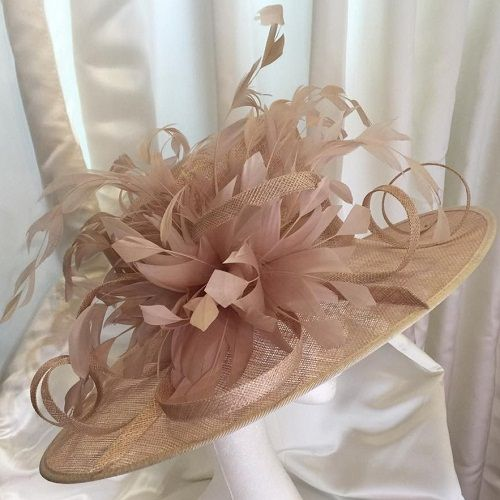 Latte Mother Of The Bride Wedding Hat NR335A