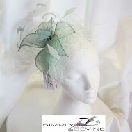 Pale Acqua Feather Fascinator on a comb SN830