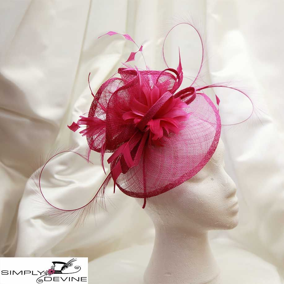 Rose Pink Wedding or Race Day Hatinator - Hatbox6 1232 e3bb6e2a9ef