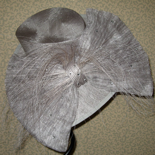 aa2bae864a3b5 Silver Mother of the Bride Hat SN222